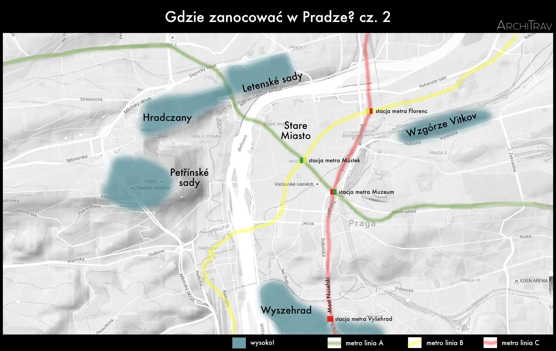 Praha wzniesienia