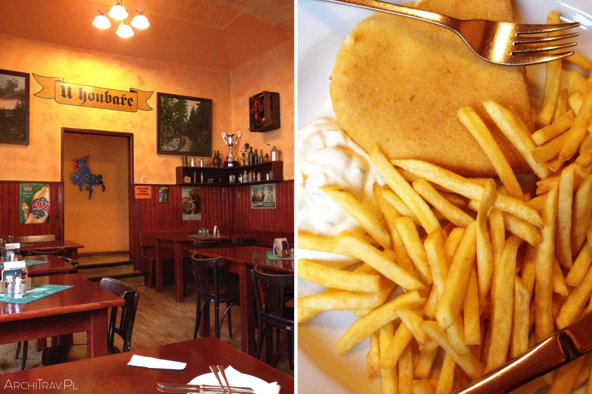 restauracja w Pradze U Houbare