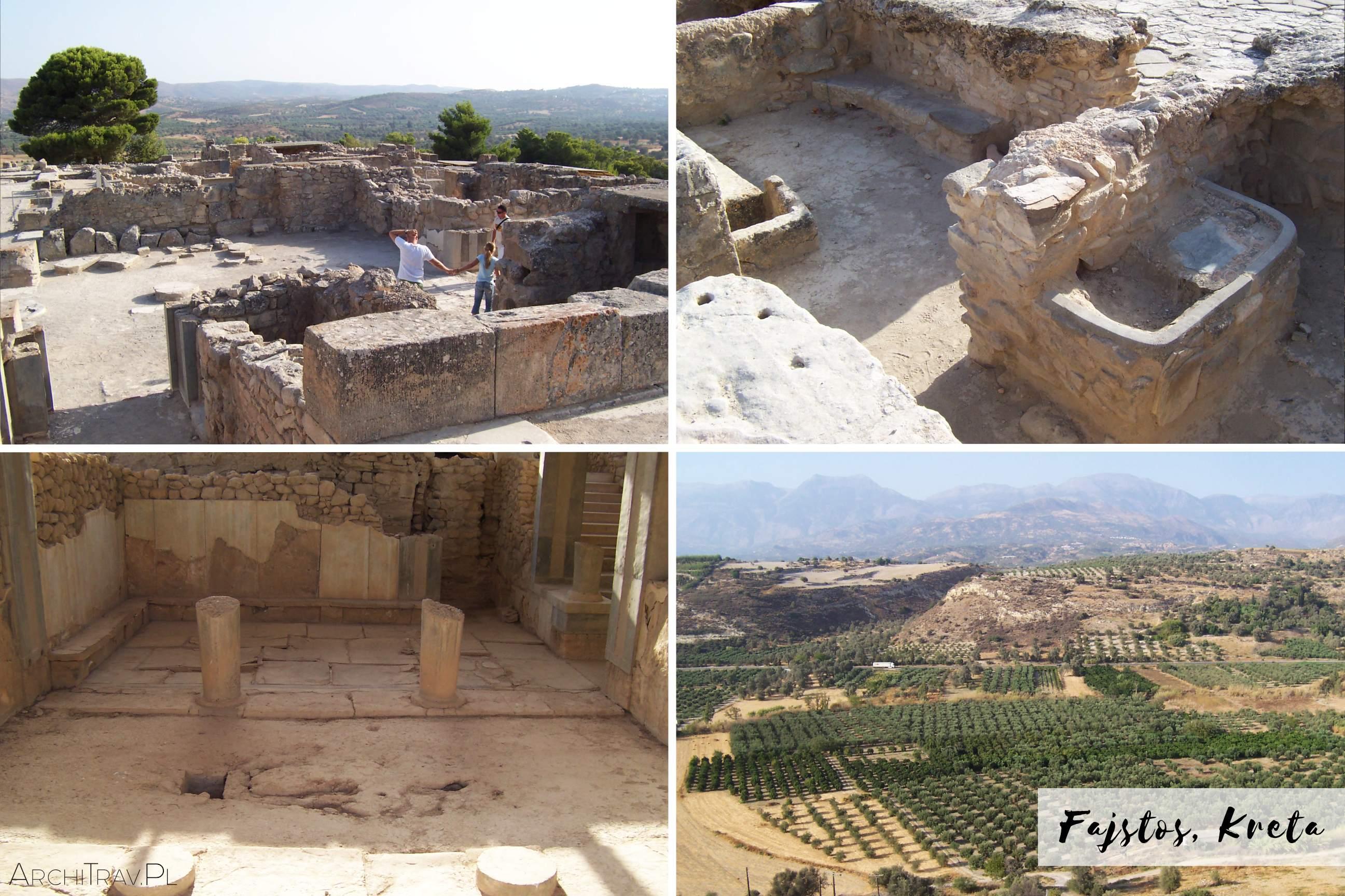 przewodnik po Krecie Fajstos ruiny palacu minojskiego