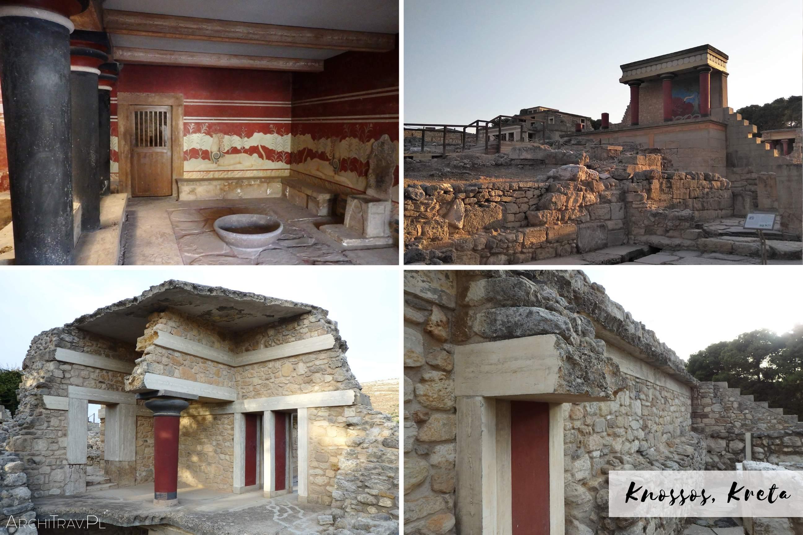 zdjecie zlozone z czterech mniejszych - palac w Knossos, sala tronowa