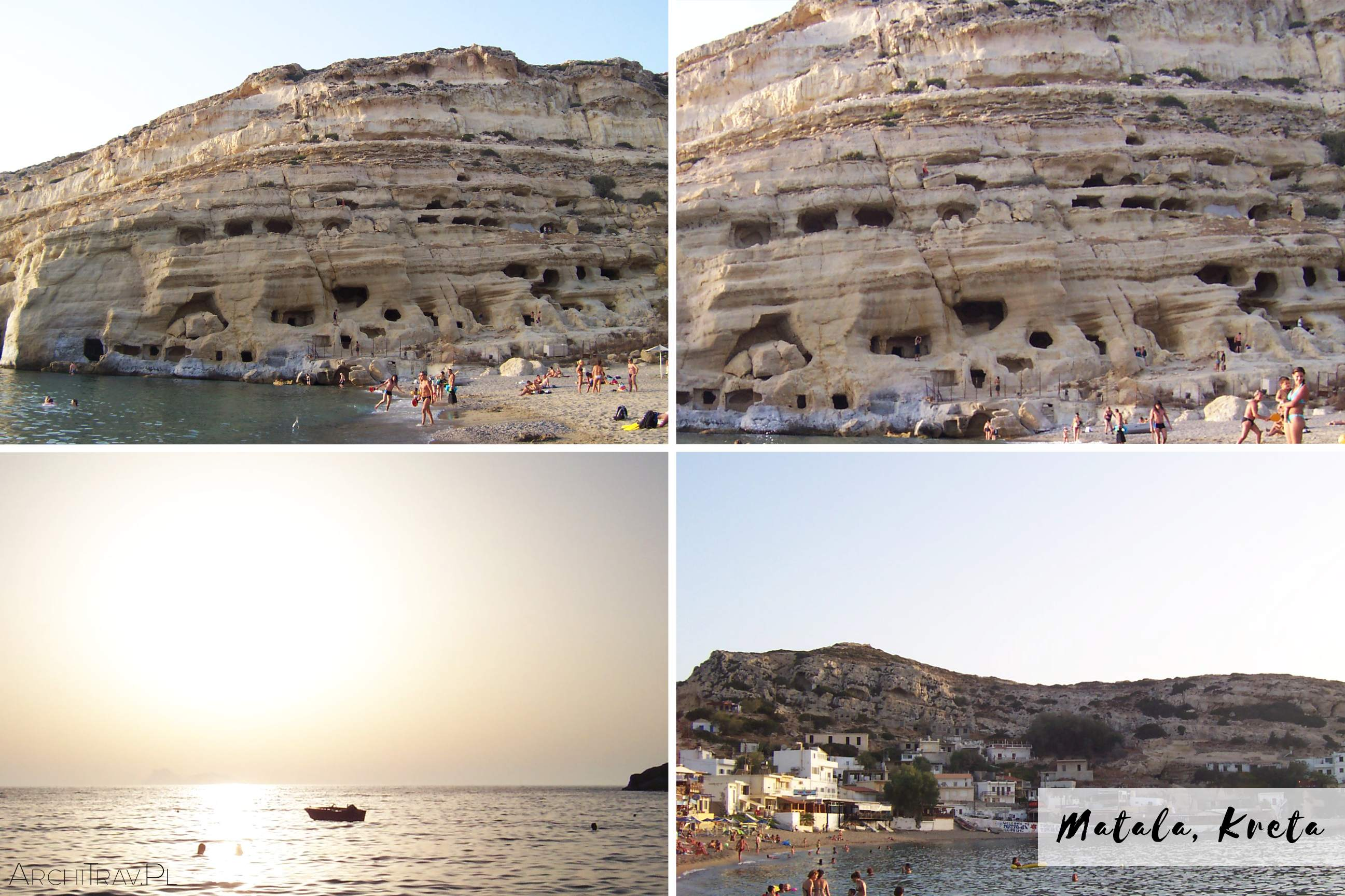 zdjecie zlozone z czterech mniejszych - Matala Kreta