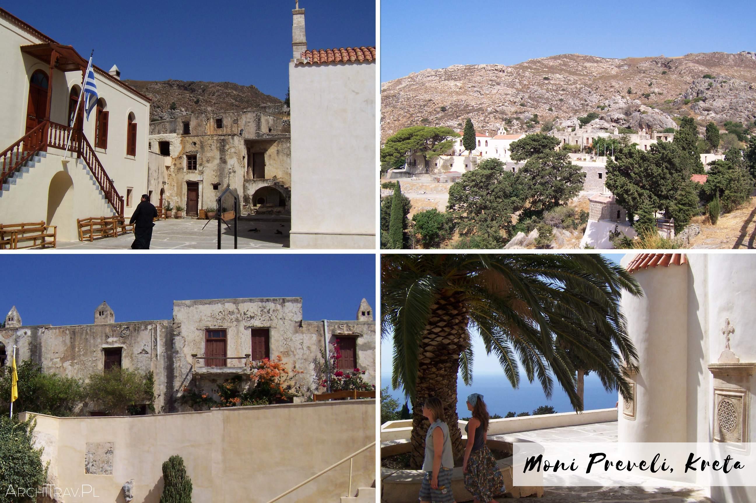 zdjecie zlozone z czterech mniejszych - Moni Preveli Kreta klasztor
